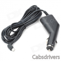 C-002 Micro USB 2A 10W Car Cigarette Lighter Charger for Samsung / Xiaomi / HTC + More - Black