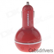 2-in-1 Fashion Perfume Smell 3.1A Dual USB Car Charger / Music Speaker MP3 Player w/ TF Solt - Red