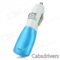 iznc znc-006 Universal Quick Charging 2A USB Car Charger Power Adapter - White + Blue