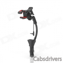 HC27J Universal Car Cellphone Holder w/ USB Charger for IPHONE 5, Galaxy S3, Nexus, HTC & More