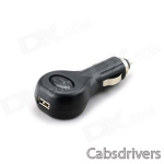 KILHUNT K26 USB Car Cigarette Lighter Charger - Black (12~24V)