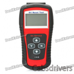 """2.8"""" LCD Car Vehicle Oil Service and Airbag Reset Tool - Red + Black - 0"""