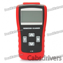 """2.8"""" LCD ABS MaxScan MS500 CAN-BUS/OBDII Code Reader - Red + Black - 0"""