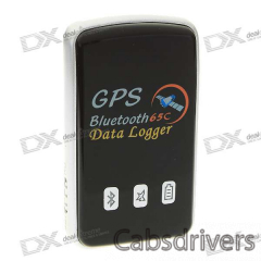 65-Channel Car Navigation and Tracking Bluetooth GPS Receiver + Data Logger - 0