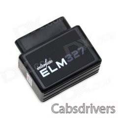 Mini ELM327 Bluetooth OBD2 V1.5 Car Diagnostic Interface Tool - Black - 0