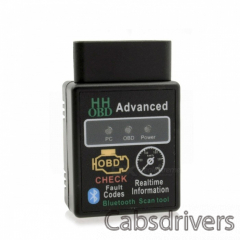 HHOBD ELM327 Bluetooth OBDII Vehicle Diagnostic Scan Tool - Black (DC 12V) - 0