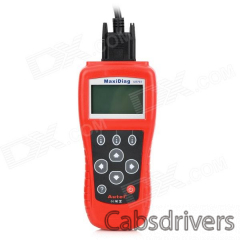 "MaxiDiag US703 2.7"" LCD Code Scanner Reader Diagnostic Tool for GM / Ford / Chrysler - Red - 0"