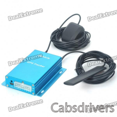 Portable Quadband Multi-Function GSM/GPRS/GPS Vehicle Tracker - Blue - 0