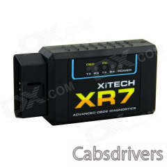 XR7 ELM327 Bluetooth OBD2 Scan Tool - Black - 0