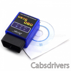 ELM327C Super Mini V1.5 Bluetooth OBD-II Car Auto Diagnostic Scanner Tool - Blue + Black (12V) - 0