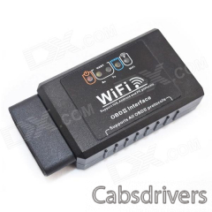 EML327 OBD Wi-Fi Auto Car Diagnostic Tool for Iphone - Black - 0