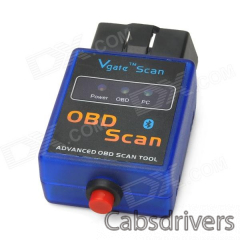 ELM327-K Vehicle Mini Bluetooth OBD-II Code Reader Diagnostic Scanner w/ Switch - Blue + Black - 0