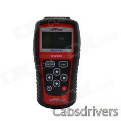 "KW808 2.8"" LCD OBD2 / EOBD Car Diagnostic Auto Code Scanner - Red + Black - 0"