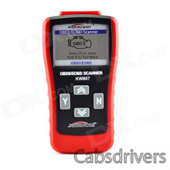 "KW807 2.8"" LCD OBDII / EOBD Car Diagnostic Auto Scanner - Red + Black - 0"