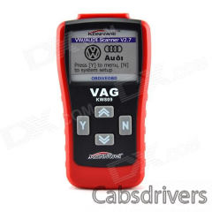 """KW809 2.8"""" LCD OBDII / EOBD Multifunction Car Diagnostic Scanner for CAN VW / AU-DI - Red + Black - 0"""