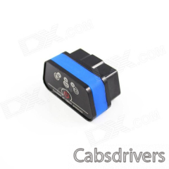 Super Mini iCar2 Vehicle Bluetooth OBD-II Code Diagnostic Tool / Clearer - Black + Blue - 0