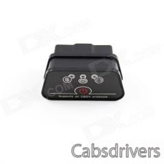Super Mini iCar2 Vehicle Bluetooth OBD-II Code Diagnostic Tool / Clearer - Black + Grey - 0