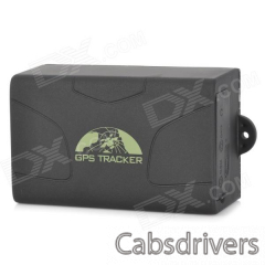 401 Portable 850 / 900 / 1800 / 1900MHz GPRS / GSM Vehicle Tracker System - Black - 0