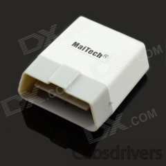 MaiTech ELM327 Bluetooth OBD2 V1.5 Car Diagnostic Interface Tool with Switch - White + Light Grey - 0