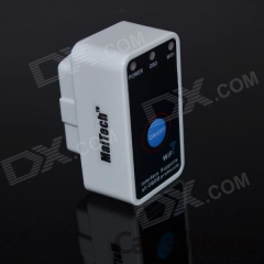 MaiTech ELM327 Interface Wireless OBD II Wi-Fi Car Diagnostic Scanner Tool - White + Black (12V) - 0
