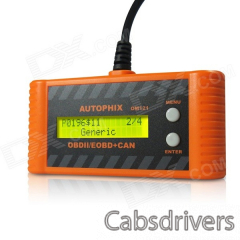 OM121 OBDII / EOBO Code Scanner - Orange + Black - 0