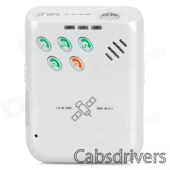 Portable 850 / 900 / 1800 / 1900MHz GPRS / SMS Vehicle / Car Tracker w/ SOS - White - 0