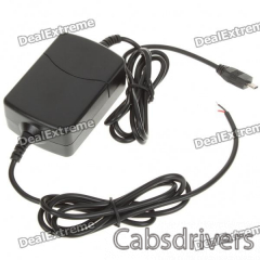 USB Adapter Charger for GPS - Black (12~24V) - 0
