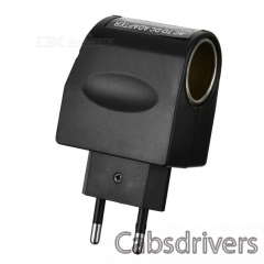 100V-240V AC to 12V DC Power Adapter Converter - Black (EU Plug) - 0