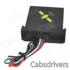 Water Resistant Quadband GPS / GSM Vehicle Positioning Tracker - Black - 0