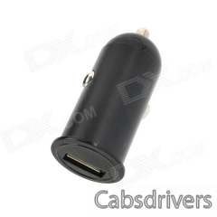 Universal USB Car Charger - Black (12-24V) - 0