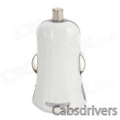 Mini Car Cigarette Powered Charger Charging Adapter for Iphone - White - 0