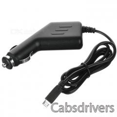 12~24V Portable Universal Car charger w/ Micro USB Output Cable for Samsung Cellphone + More - Black - 0