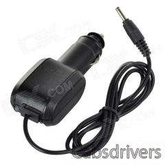 HG-1206CS 2-in-1 600mA Car Cigarette Lighter Charger w/ Charging Dock Station - Black - 0