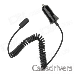 Car Cigarette Powered Charging Adapter Charger w/ Coiled Cable for Sony L39h / XL39h - Black - 0
