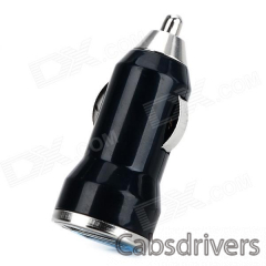 A12 Dual USB Car Cigarette Lighter Charger + USB to Micro USB Cable for Cellphone / Tablet PC (1m) - 0