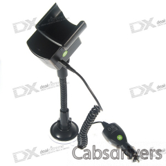 Windshield Mount Holder + 1000mA Car Charger for Nokia N95 8GB - 0