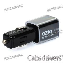 OZIO D10 USB Car Cigarette Powered Charger (DC 5V 700mA) - 0