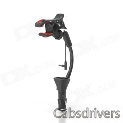 HC27J Universal Car Cellphone Holder w/ USB Charger for IPHONE 5, Galaxy S3, Nexus, HTC & More - 0